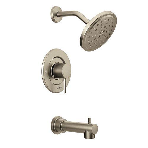 MOEN Kit de garniture de robinetterie de baignoire et de douche Moentrol à 1 poignée en nickel brossé (robinet non inclus)