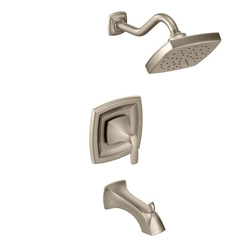 MOEN Voss Single-Handle 1-Spray Moentrol Tub and Shower Faucet Trim Kit in Brushed Nickel (Valve Not Included)