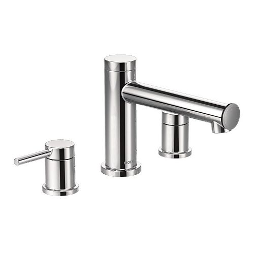 MOEN Align 2-Handle Deck Mount Roman Tub Faucet Trim Kit in Chrome (Valve Not Included)