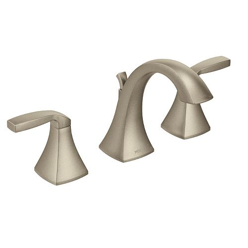 MOEN Voss 8-inch Widespread 2-Handle High-Arc Bathroom Faucet Trim Kit in Brushed Nickel (Valve Not Included)