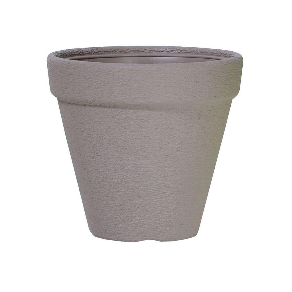Classic Prosperplast 13.8-inch Round Planter in Mocca