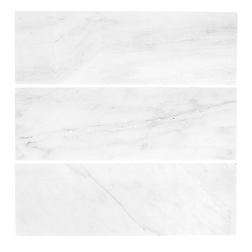 Carrara 4-inch x 12-inch Honed Marble Wall Tile (3-Pack)