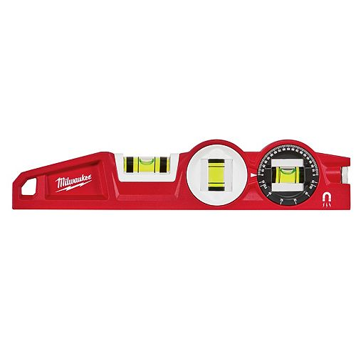 Milwaukee Tool 10 inch 360 Degree-Locking Die Cast Torpedo Level
