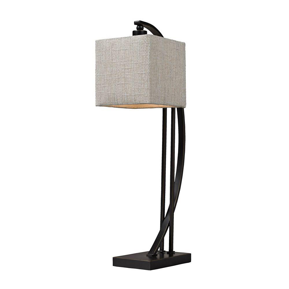 Titan Lighting Lampe de table en métal courbé de 26po au fini bronze Madison
