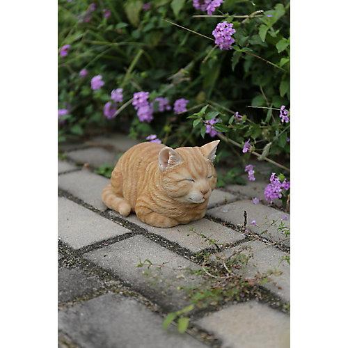 Orange Tabby Sleeping Cat Statue