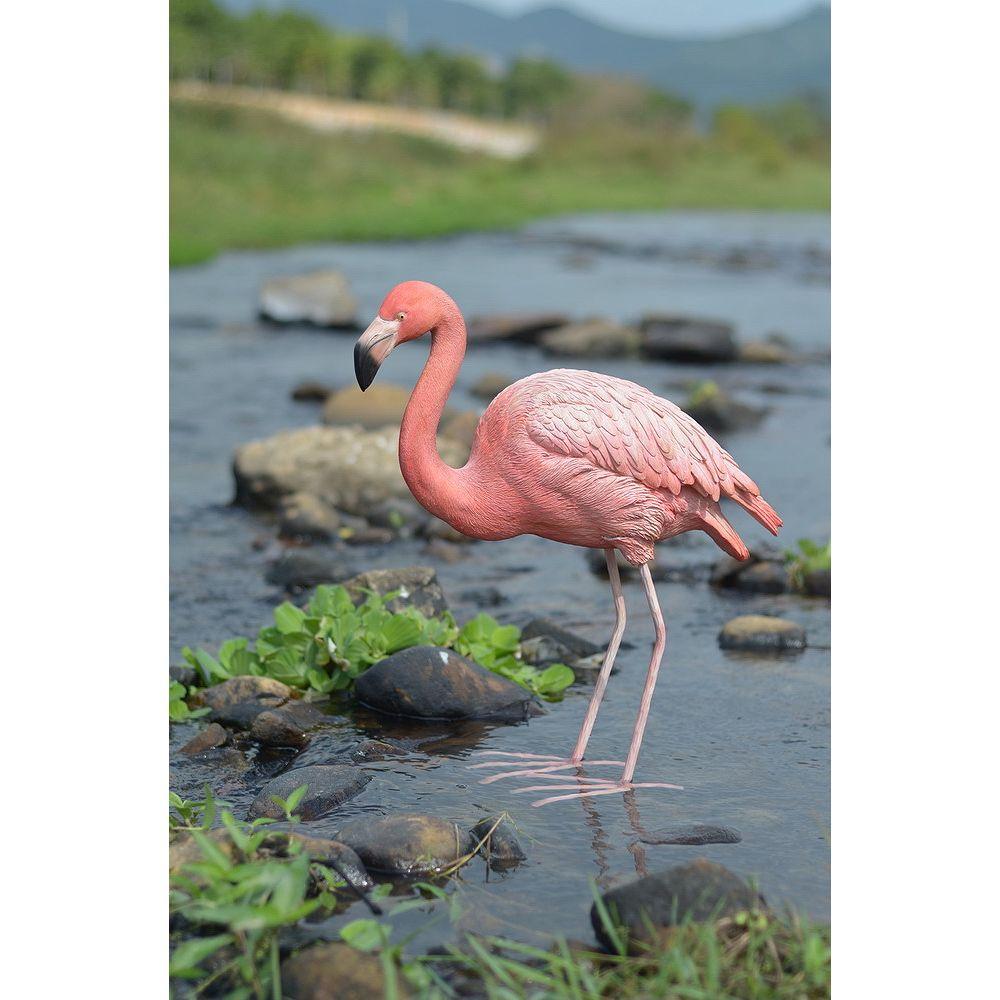 Hi-Line Gift Flamingo Bird Statue