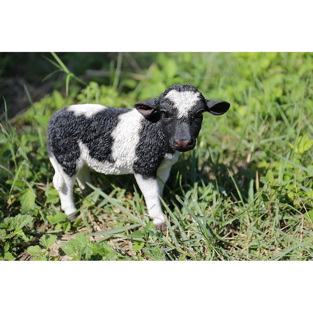 Hi-Line Gift Black and White Standing Cow Statue