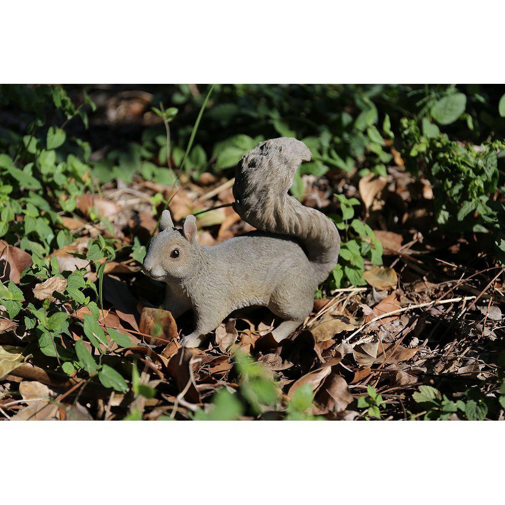 Hi-Line Gift Grey Squirrel Hopping Statue