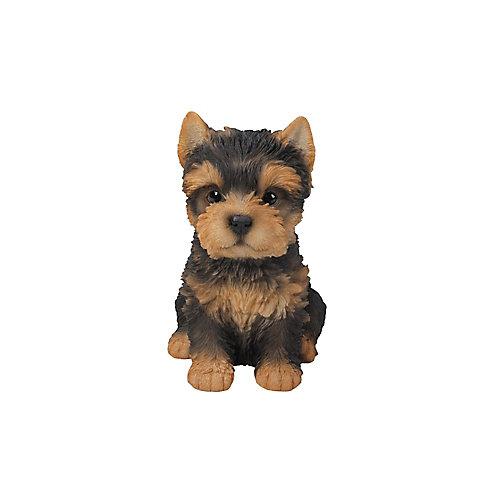 Sitting Yorkshire Terrier Puppy Statue