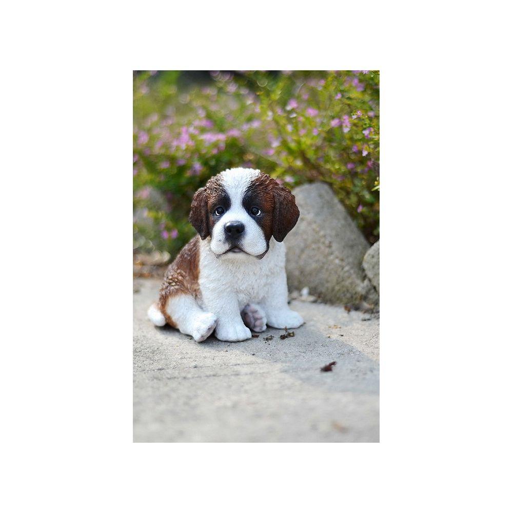 Hi Line Gift Sitting Saint Bernard Puppy The Home Depot Canada