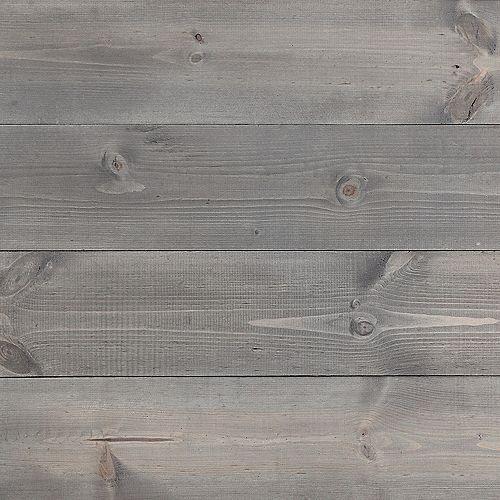 Planches murales grises brossées a sec