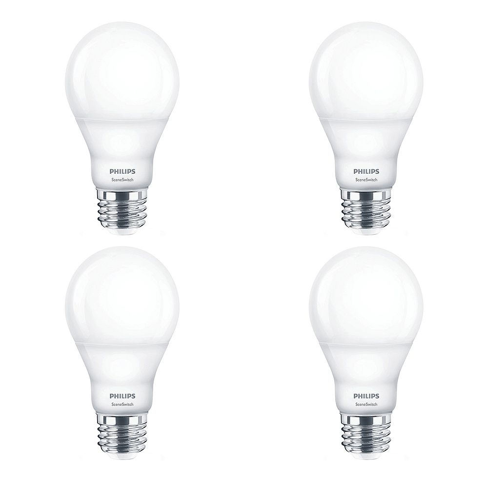 Philips 60W Equivalent Scene Switch Daylight A19 LED Light Bulb ENERGY STAR® (4-Pack)