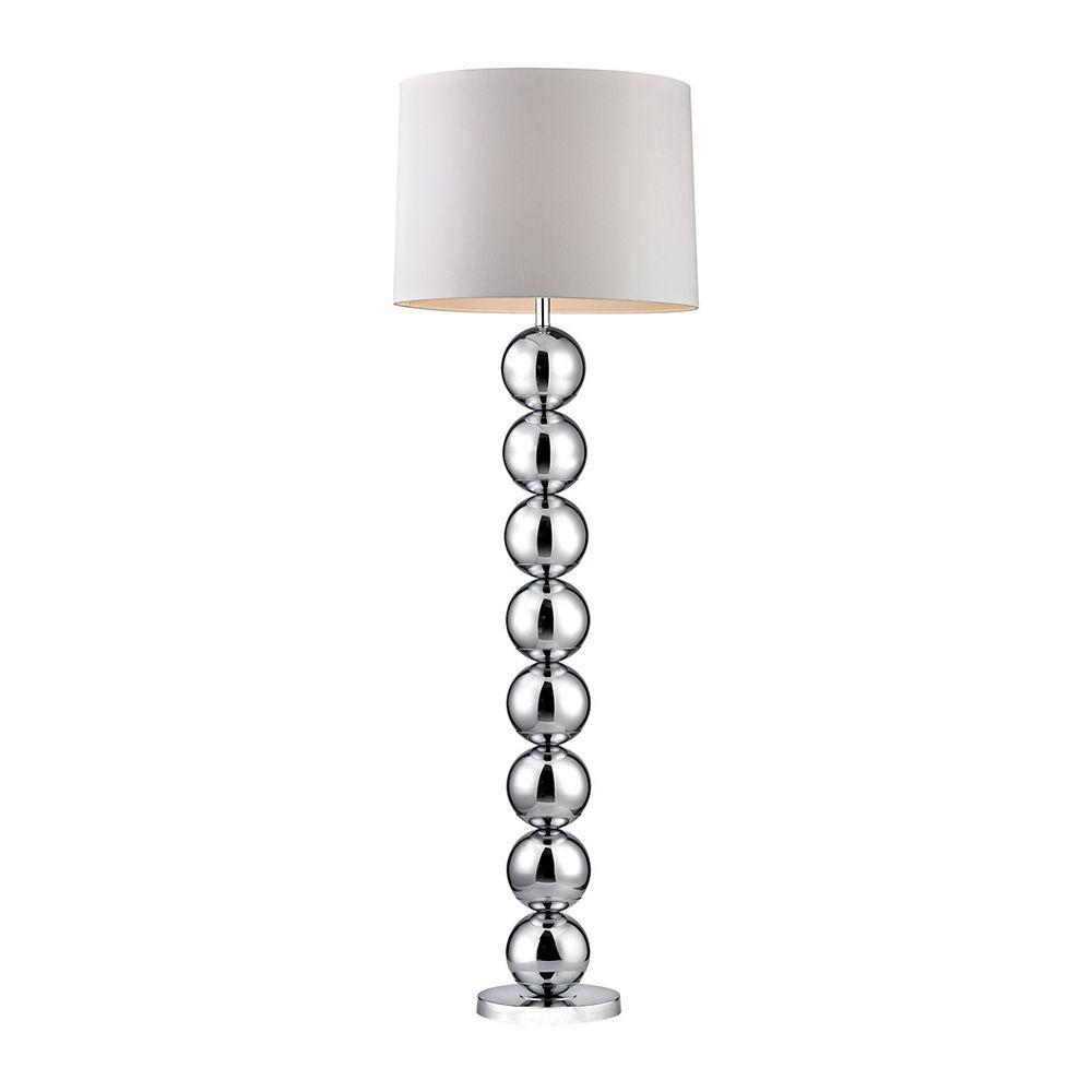 Titan Lighting Lampe à pied de 62po à base sphérique et au fini chrome