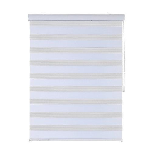 Modern Homes- Store Horizontal Blanc avec Chainette en Metal (60 po x 84 po)