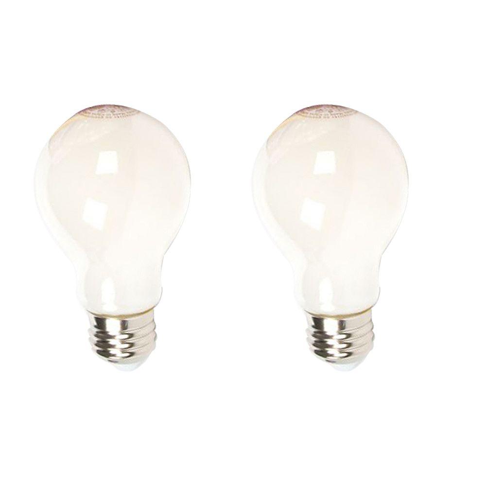 Philips Ampoule DEL A19 ENERGY STAR, équivalence de 60 W, verre, blanc doux, ens. de 2