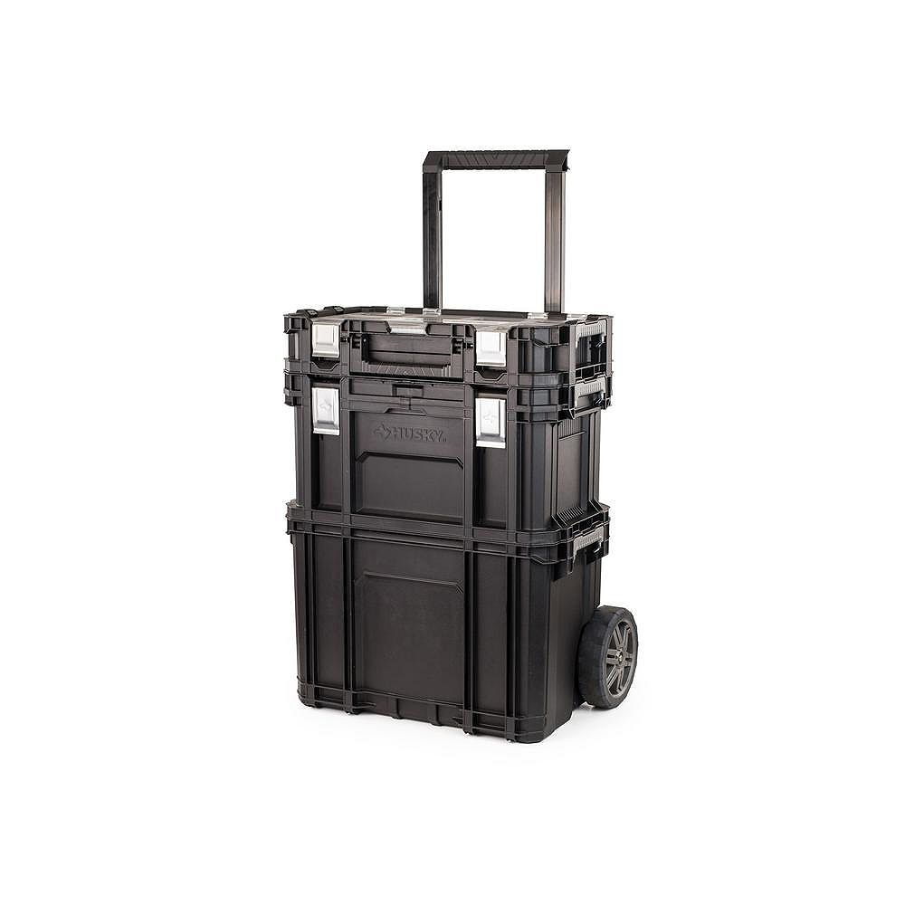 Husky 22 Inch Rolling Tool Storage Cart With Connect System The Home Depot Canada