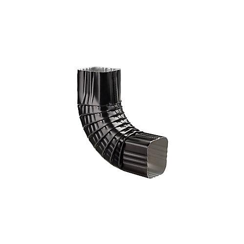 Aluminum Gutter 3 inch x 3 inch Elbow - Black