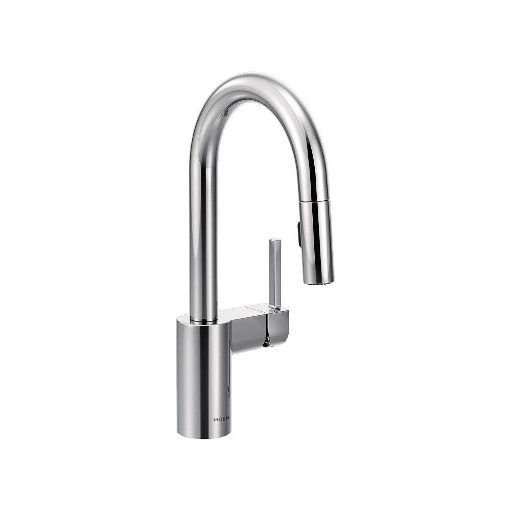 MOEN Aligner un robinet de bar à poignée unique avec réflecteur en chrome
