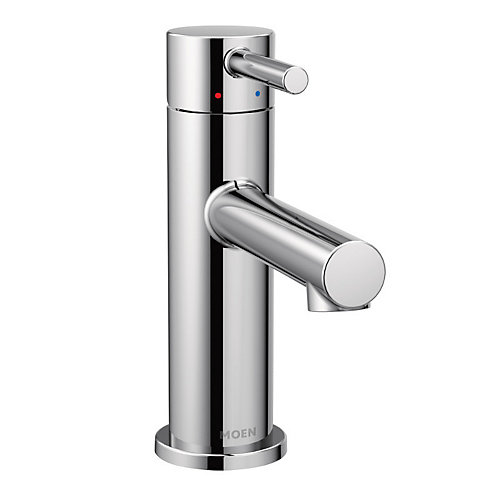 Align Single Hole 1-Handle High Arc Bathroom Faucet in Chrome with Lever Handle