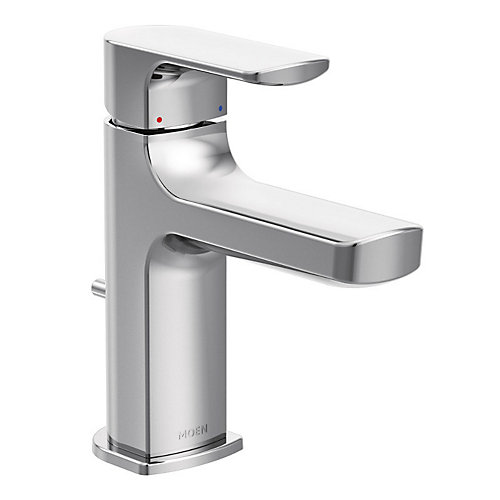 Rizon Single Hole 1-Handle Low Arc Bathroom Faucet in Chrome with Lever Handle