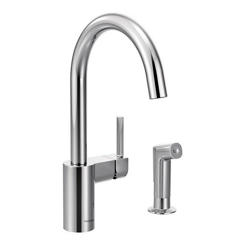 MOEN Align Single-Handle Standard Kitchen Faucet with Side Sprayer and Hydrolock in Chrome