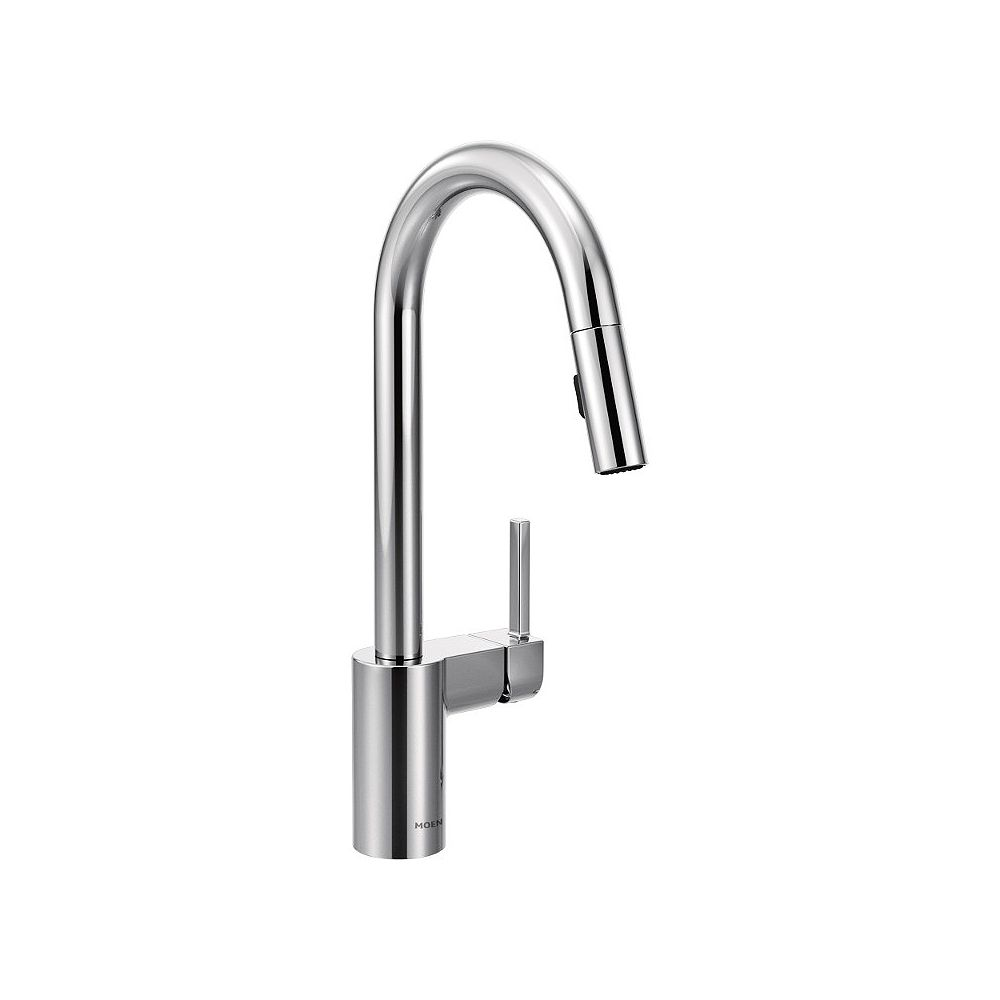 MOEN Align Single-Handle Pull-Down Sprayer Kitchen Faucet with Reflex and Power Clean in Chrome