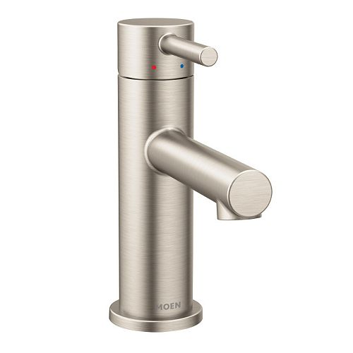Align Single Hole Single-Handle Bathroom Faucet in Brushed Nickel