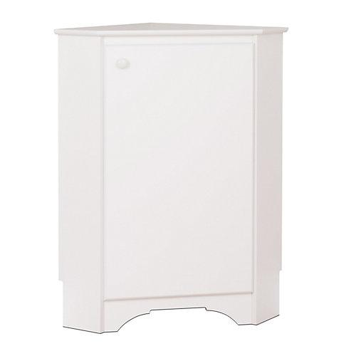 Elite Corner Storage Cabinet in White