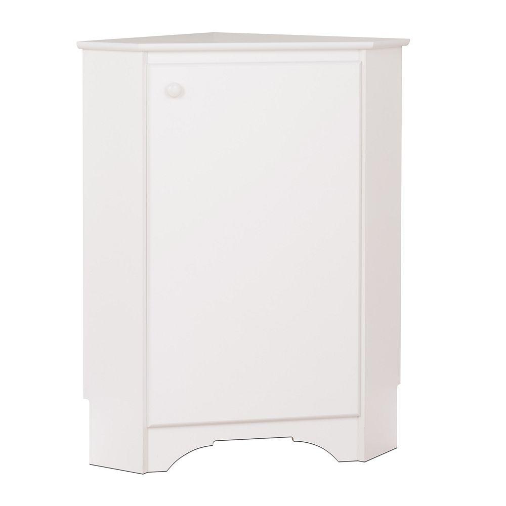 Prepac Elite Corner Storage Cabinet in White