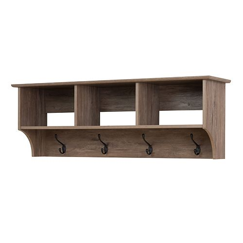 48 Inch Wide Hanging Entryway Shelf, Drifted Gray