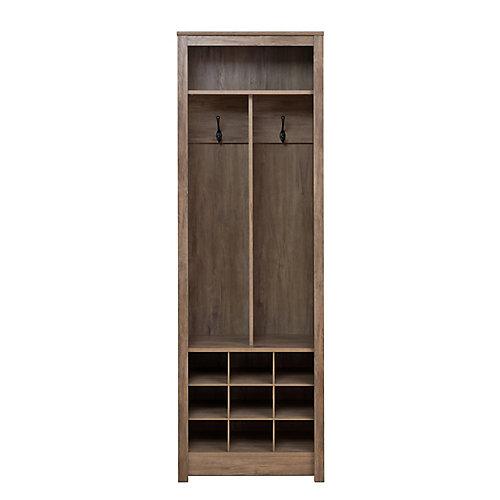 23.5-inch x 72.5-inch x 13-inch Entryway Organizer with Shoe Storage in Drifted Grey