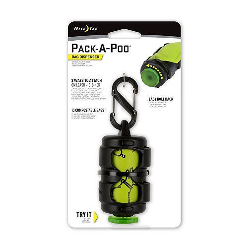 Nite Ize Pack-A-Poo Dispenser + Refill Pet Pick Up Bags