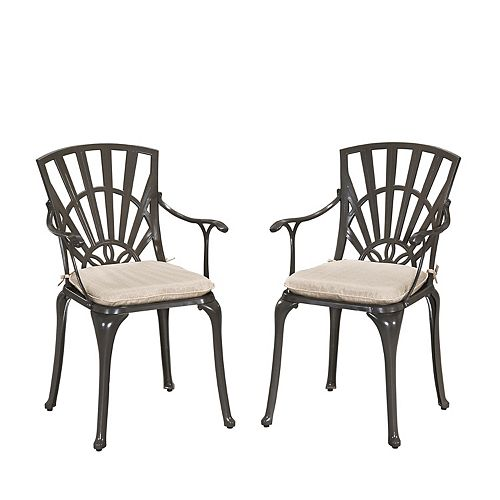 Gray Outdoor Dining Chair Cushion