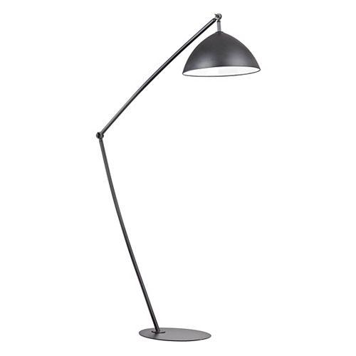 Lampe à pied réglable Industrial Elements de 50po au fini noir mat