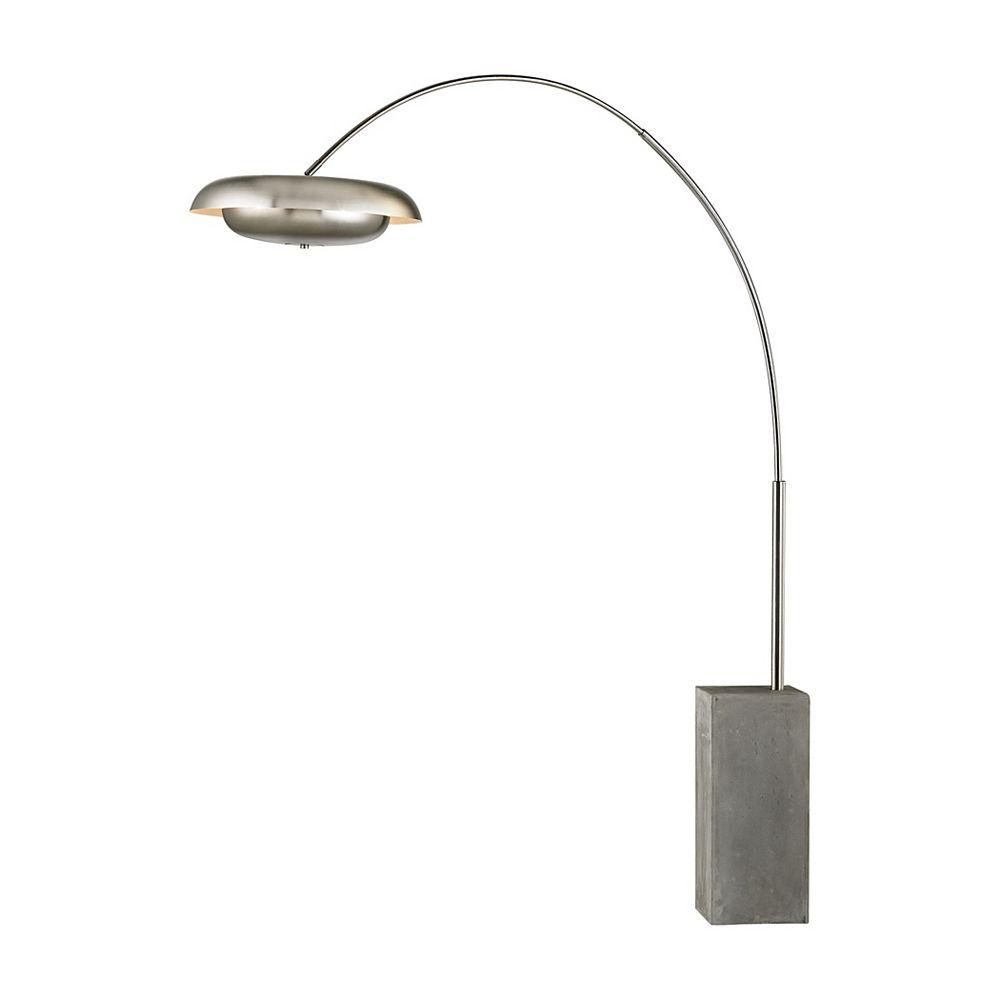Titan Lighting Berne 73 inch 3 Light Floor Lamp In Satin Nickel