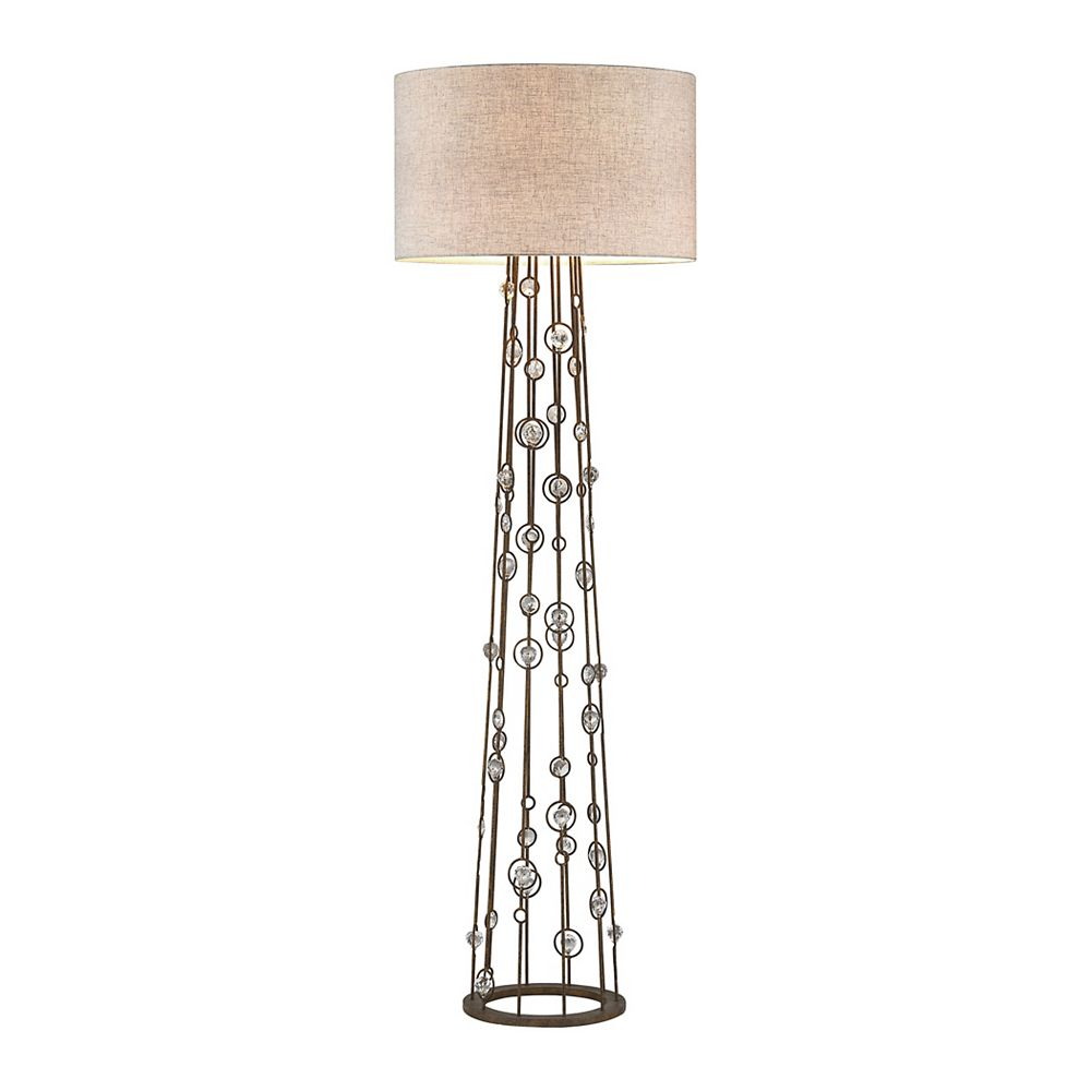 Titan Lighting Boheme 67 inch 2 Light Floor Lamp In Burnley Bronze