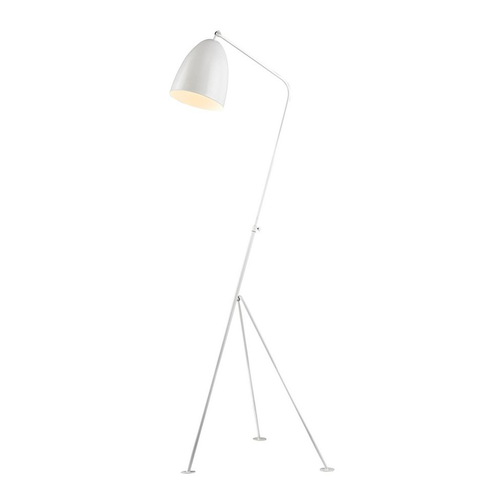 Titan Lighting Objet 58 inch 1 Light Floor Lamp In White