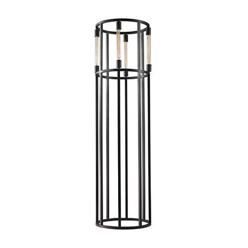 Lampe à pied Tube de 66po, pour quatre ampoules cylindriques