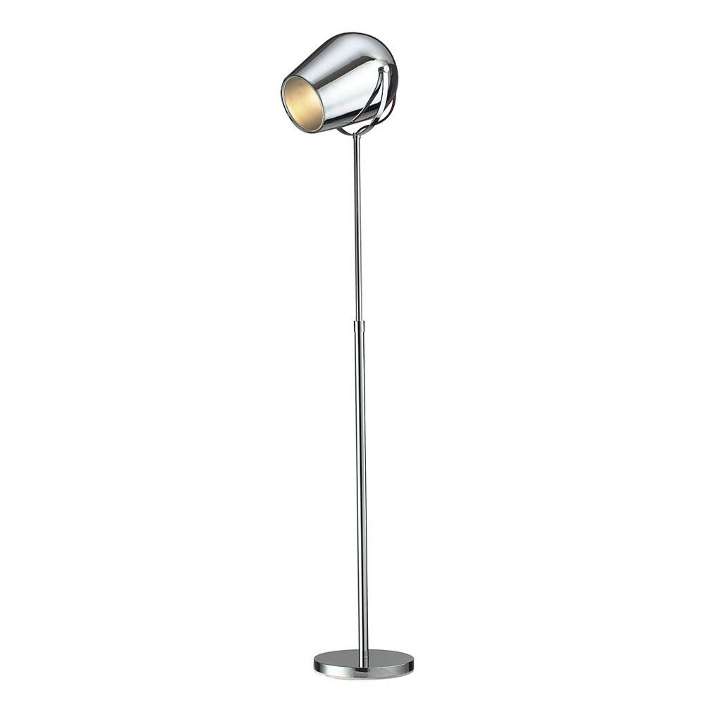 Titan Lighting Champlain 65 inch Adjustable Floor Lamp in Chrome