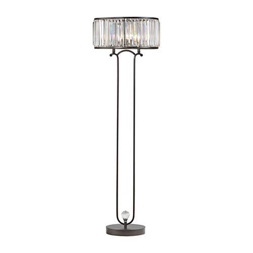 Lampe à pied Rudolfo de 65po au fini bronze, pour deux ampoules