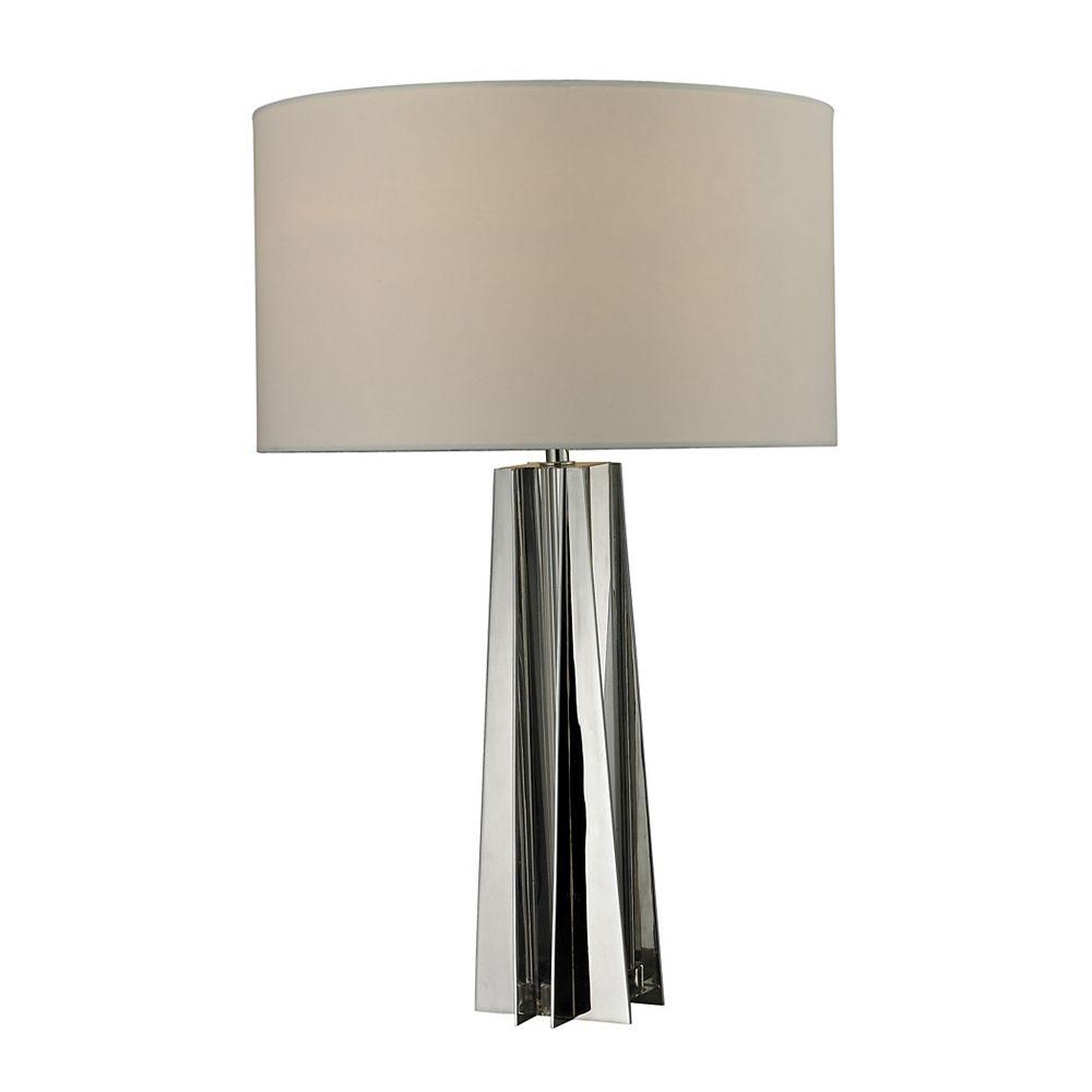 Titan Lighting Lampe de table Ranick de 25po au fini cristal transparent et chrome