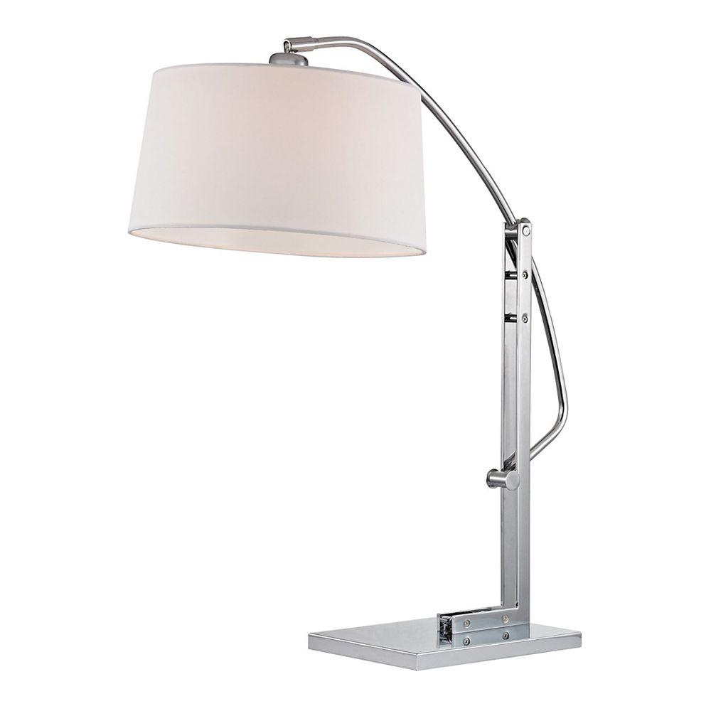 Titan Lighting Lampe de table réglable Assissi de 25po au fini nickel poli