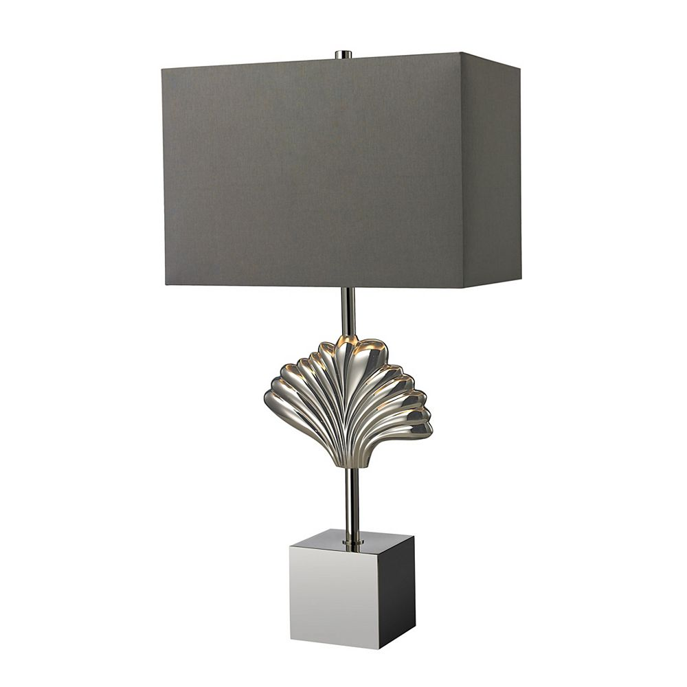 Titan Lighting Vergato 27 Inch Solid Brass Table Lamp in Polished Chrome