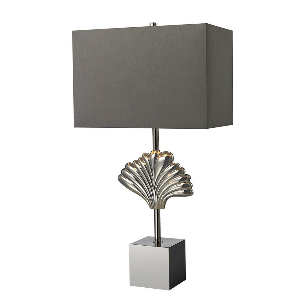 Titan Lighting Lampe de table Vergato de 27po en laiton uni au fini chrome poli