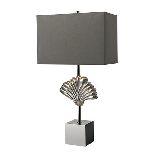 Lampe de table Vergato de 27po en laiton uni au fini chrome poli