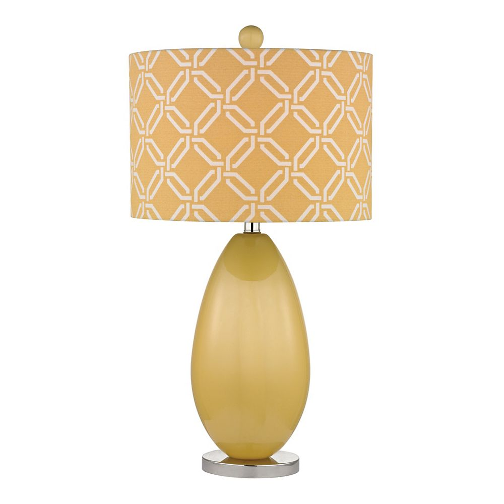 Titan Lighting Sevenoakes 25 Inch Table Lamp In Sunshine Yellow And Polished Nickel
