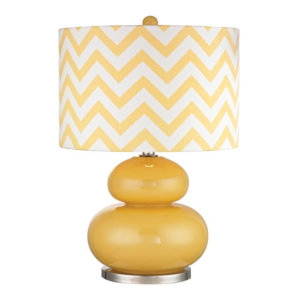 Titan Lighting Tavistock 24 Inch Table Lamp In Sunshine Yellow And Polished Nickel