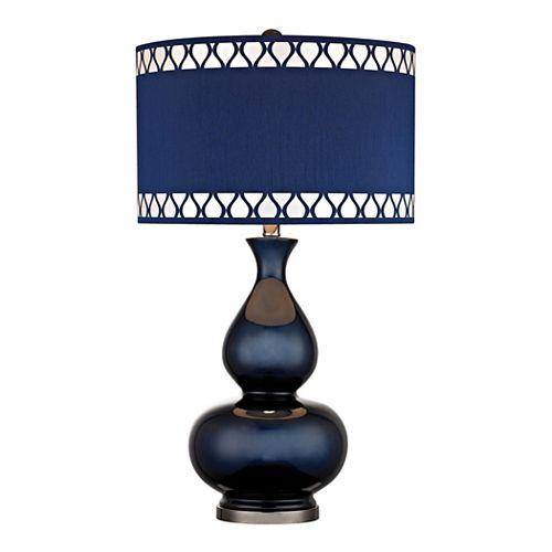 Lampe de table Heathfield de 28po au fini bleu marine