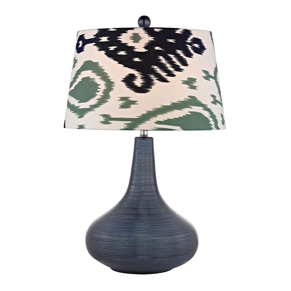 Titan Lighting Penarth 26 Inch Ceramic Table Lamp in Navy Blue
