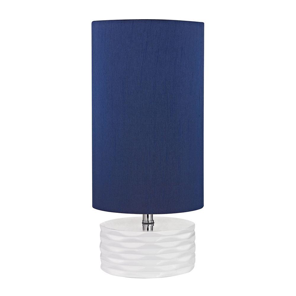 Titan Lighting Lampe de table Tamworth de 18po en céramique blanche
